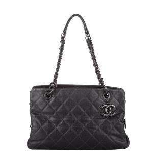Chanel Black Caviar Leather New Chic Tote Bag