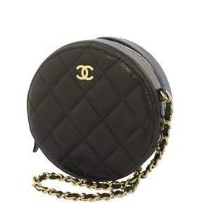 Chanel Black Caviar Leather Round as Earth Bag