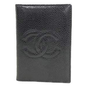 Chanel Black Caviar Leather Timeless Card holder