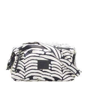 Chanel White/Black Nylon Sport Line Crossbody Bag