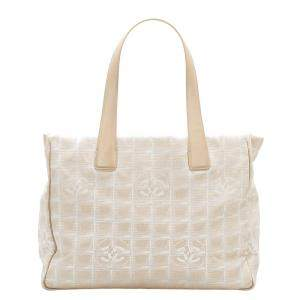 Chanel Beige Nylon New Travel Line Tote Bag