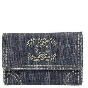 Chanel Blue Denim Wallet