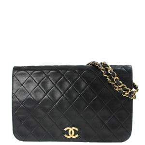 Chanel Black Leather Vintage Flap Bag