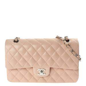 Chanel Beige Quilted Leather Classic Double Flap Bag