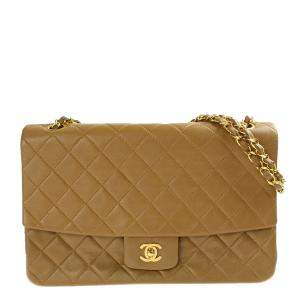Chanel Brown Leather Classic Flap Bag