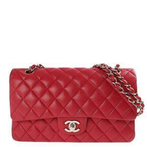 Chanel Red Quilted Leather Flap Bag