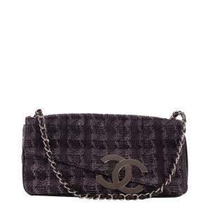 Chanel Black Tweed Shoulder Bag