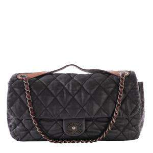 Chanel Black Quilted Leather In The Mix Flap Bag