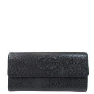 Chanel Black Leather CC Timeless Wallet