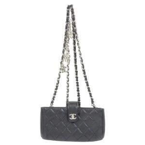Chanel Black Lambskin Leather Shoulder Bag