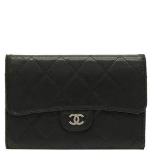 Chanel Black Leather Wallet