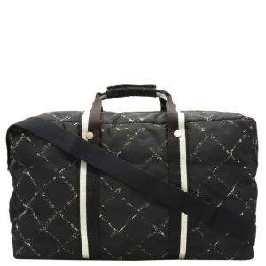 Chanel Black Nylon Old Travel Line Bag