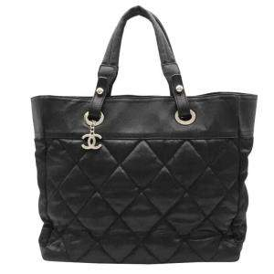 Chanel Black Canvas Paris Biarritz Tote Bag