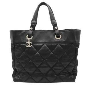 Chanel Black Canvas Paris Biarritz Tote Bag