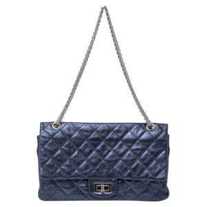 Chanel Blue Calfskin Leather Reissue 2.55 Classic 227 Flap Bag