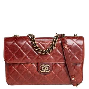 Chanel Brown Aged Leather Large Perfect Edge Flap Bag