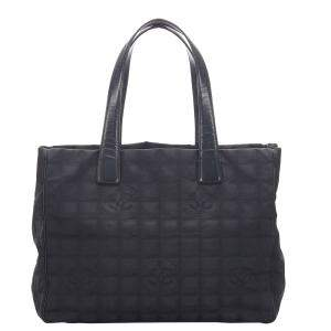 Chanel Black Nylon New Travel Line Tote Bag