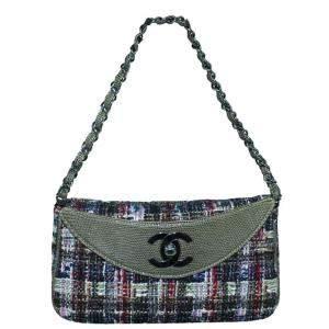 Chanel Multicolor Vintage CC Tweed Bag