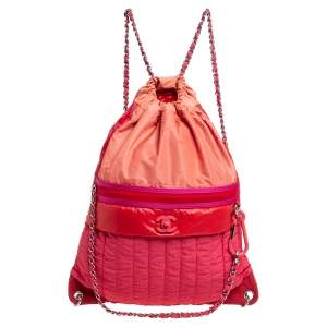 Chanel Multicolor Vertical Quilted Nylon Large Coco Neige Convertible Backpack