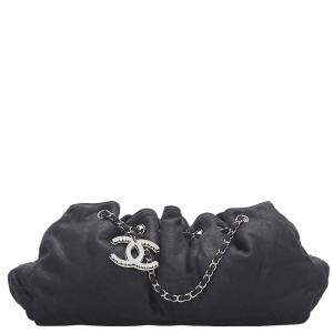 Chanel Black Nylon Melrose Cabas Shoulder Bag