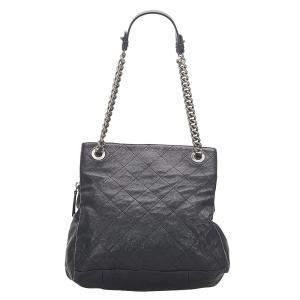 Chanel Black Matelassé Caviar Leather Tote Bag