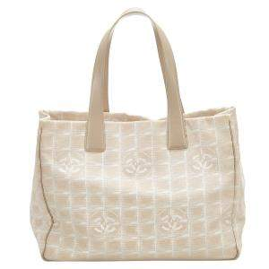Chanel Beige/Brown New Travel Line Canvas Tote Bag
