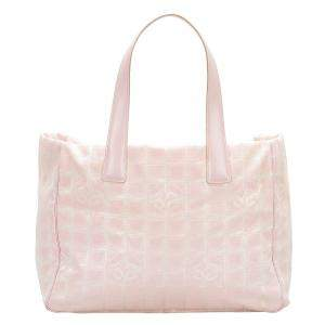 Chanel White New Travel Line Canvas Tote Bag