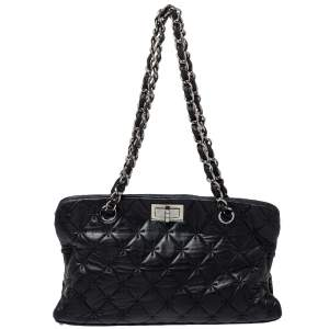 Chanel Black Quilted Leather 2.55 Reissue Tote