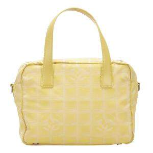 Chanel Yellow Nylon New Travel Line Shoulder Bag
