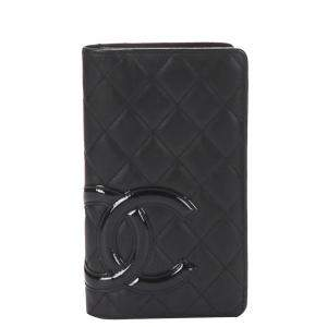 Chanel Black Leather Cambon Wallet