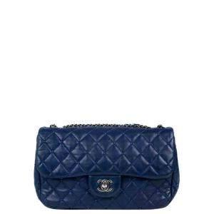 Chanel Blue Leather Timeless Shoulder Bag
