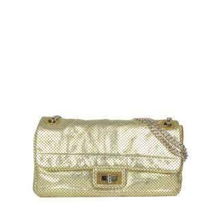 Chanel Gold Leather Reissue 2.55 Shoulder Bag