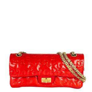 Chanel Red Patent Leather 226 Puzzle Shoulder Bag