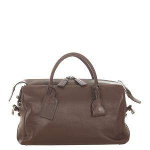 Chanel Brown Leather CC Travel Bag