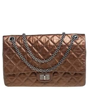 Chanel Bronze Lambskin Reissue 2.55 Double Flap Shoulder Bag