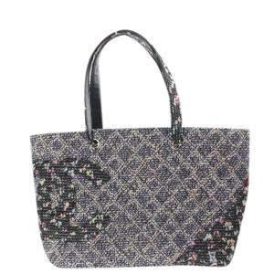 Chanel Multicolor Tweed  Campon Ligne Tote Bag