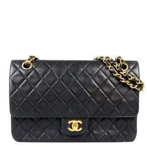 Chanel Black Leather Classic Flap Bag