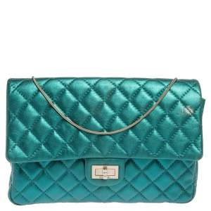 Chanel Metallic Teal Quilted Leather Reissue 2.55 Classic 226 Flap Bag