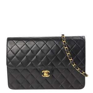 Chanel Black Leather CC Flap Bag