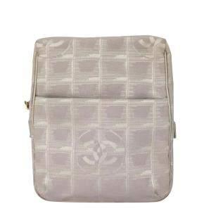 Chanel Beige Canvas Travel Ligne Crossbody Bag