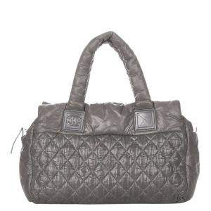 Chanel Grey Leather Coco Cocoon Bag