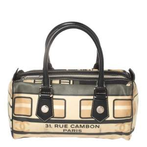 Chanel Multicolor Coated Canvas and Caviar Leather Central Station Satchel