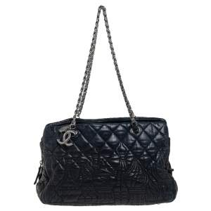 Chanel Black Quilted Leather Paris Moscow Chain Bag