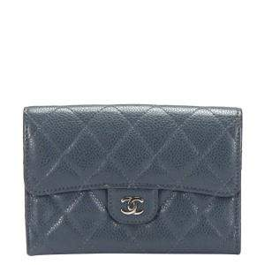Chanel Black Caviar Leather CC Wallet