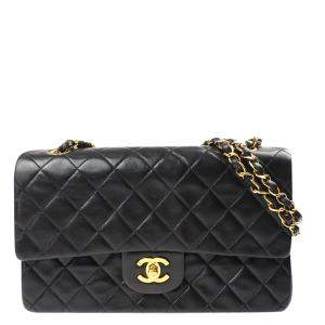 Chanel Black Quilted Leather Classic Double Flap Bag
