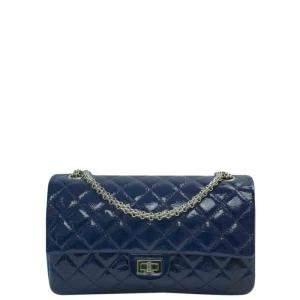Chanel Blue Patent Leather Reissue 2.55 Shoulder Bag