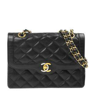 Chanel Black Quilted Leather Diana Bag