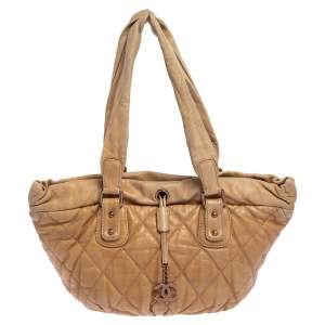 Chanel  Beige Leather Tote