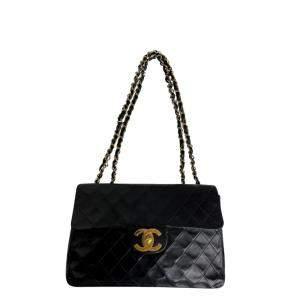 Chanel Black Leather Vintage CC Flap Bag