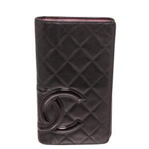 Chanel Black Leather Cambon Ligne Bifold Wallet